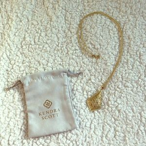 Kendra Scott Aiden Gold Long Pendant Necklace